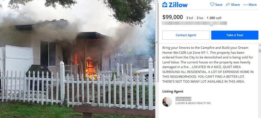 Агент «поджёг» дом, чтобы быстрее продать его