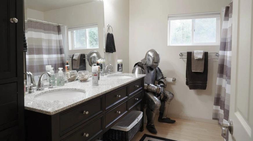 рыцарь в туалете